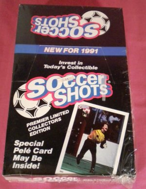 1991 Soccer Shots Trading Cards Box WORLD CUP