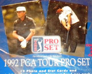 1992 Pro Set Golf Card Packs Vijay Singh Rookie