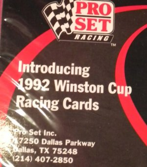 Winston Cup PROMO Racing Collector Cards 1992