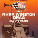 Winston NHRA Drag Racing PROMO Collector Cards 1992