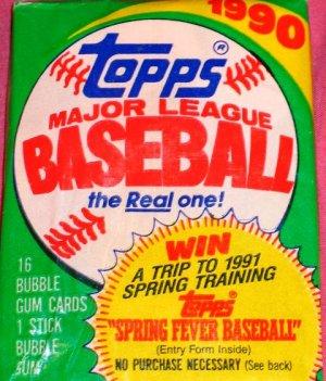 1990 Topps Basebll cards  (1) Pack