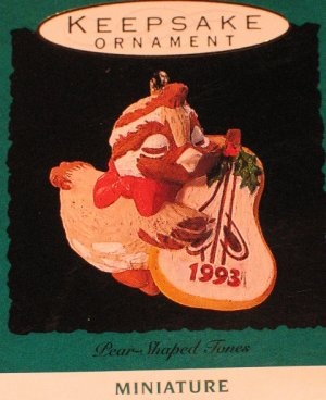 Hallmark Ornament Miniature 1993 PEAR-SHAPED TONES