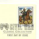 Gold Replica First Day Cover CIVAL WAR w/32 cent stamp 1995