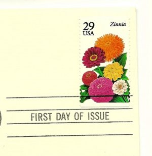 Gold Replica First Day Cover GARDEN FLOWERS w/29 cent stamp 1995