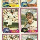 1981 Topps Baseball Uncut Sheet CRAIG NETTLES SHANE RAWLEY