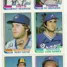 1982 Topps Baseball Uncut Sheet LEE SMITH RICKEY KEETON