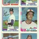 1982 Topps Baseball Uncut Sheet  GEORGE BRETT JACK MORRIS