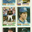 1982 Topps Baseball Uncut Sheet RANDY BASS TONY PENA