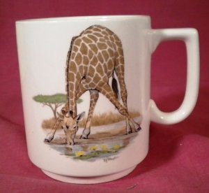 GIRAFFE Coffe Mug Cleveland Museum of Natural History
