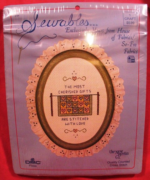 """SEWABLES KIT """"Most Cherished Gifts Stitched with Love"""""""