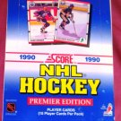 1990 Score NHL Hockey BOX 15 cards per pack 1st Edition