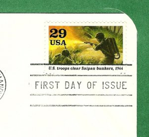 First Day Cover WORLD WAR II w/29 cent stamp 1994
