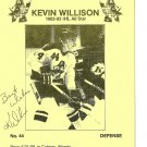 Milwaukee Admirals KEVIN WILLISON Pabst Blue Ribbon Beer AUTOGRAPH