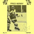 Milwaukee Admirals FRED BERRY Pabst Blue Ribbon Beer AUTOGRAPH