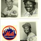 "New York Mets Mookie Wilson, Ron Hodges, George Foster 5""x 4"""