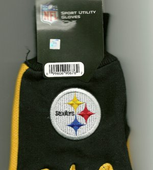 Pittsburgh Steelers NFL Logo Colorblock Utility Cotton Work Gloves