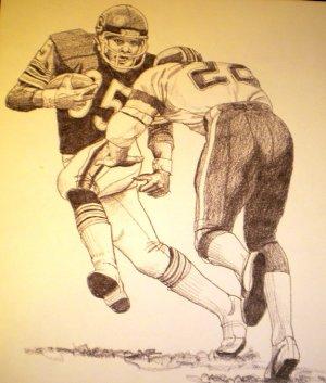 Roland Harper Chicago Bears Shell Oil Drawing NFL 1981