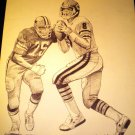 Vince Evans Chicago Bears Shell Oil Drawing NFL 1981