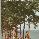 1969 Wisconsin Highway Foldout Map NICE