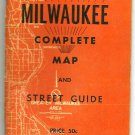 1960 1961 Edition Complete Milwaukee Map and Street Guide