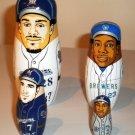 2009 Milwaukee Brewers Nesting Dolls (Fielder, Weeks, Hardy, Hall)