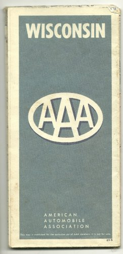 1965 Foldout Highway Map of Wisconsin AAA