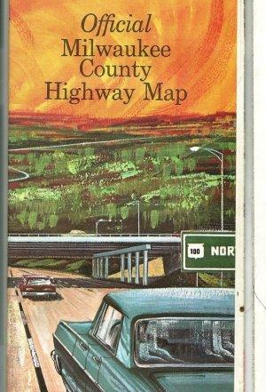 1964 Foldout Street Map of Milwaukee County Wisconsin
