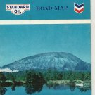 1965 Atlanta Georgia Road Map Chevron Standard Oil