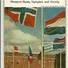1962 Foldout Street Guide of Norfolk Shell