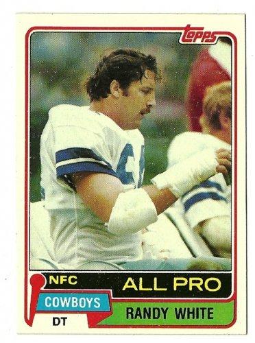 1981 Topps Football Card #470 RANDY WHITE Dallas Cowboys