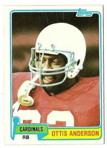 1981 Topps Football Card #365 OTIS ANDERSON St saint Louis Cardinals