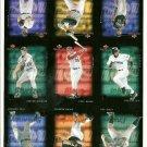 9 Card Uncut Sheet Upper Deck MVP Baseball 2002