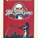 2009 MLB All Star Game Ballot Baseball Card Major League Baseball