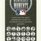 2002 MLB Memorable Moments Ballot Major League Baseball Card