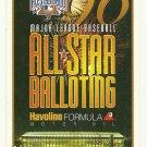 1996 MLB All Star Game Ballot Baseball Card Major League Baseball