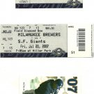 2007 Milwaukee Brewers Baseball Lot  ticket, parking pass and more