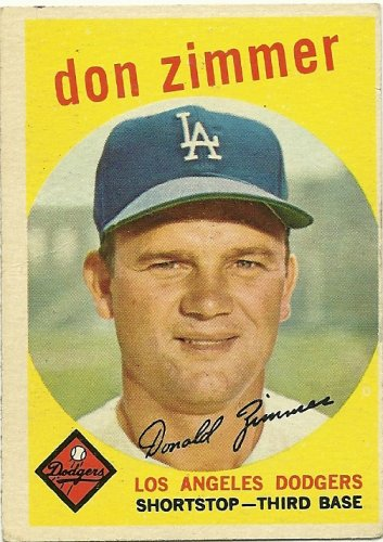 1959 Topps Baseball card #287 DON ZIMMER Los Angeles Dodgers Chicago cubs