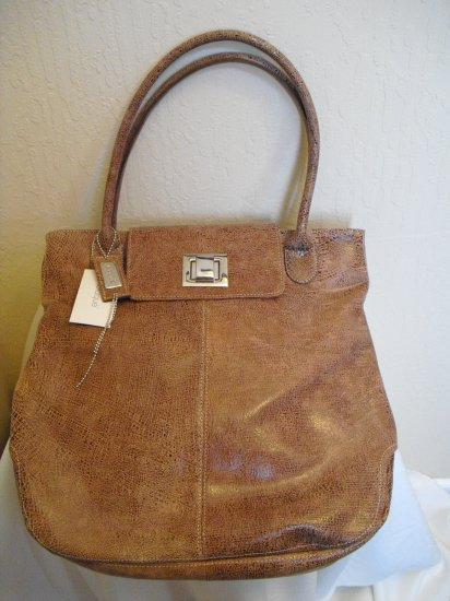 Blaque Tan structured leather Tote