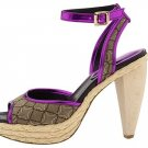 Nine West Womens Shoes Size 9.5 Dressy Heels Pumps Pink Purple Tan Ciscoann Platform NIB