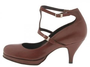 Type Z Womans Size 8 Shoes Strappy Dress Pumps Dressy Dance Heels Made in Italy Brown Leather NIB