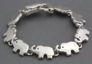 Elephant Bracelet Magnetic Silver Links Zoo African Animal