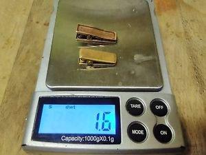 VICTORIAN 14K GOLD +10K GOLD HAIR CLIP OR PAPER CLIP LOT=ESTATE 1.6 DWT