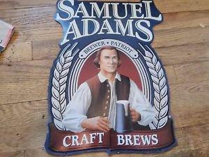 SAMUEL ADAMS BREWSTER PATRIOT CRAFT BREWS TIN SIGN-FREE SHIPPING