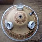 VINTAGE TIN / METAL CEILING LIGHT FIXTURE - ORNATE