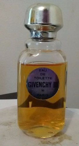 Vintage GIVENCHY III 90 Eau De Toilette Spray 2 oz/60ml Splash Bottle, 80% full