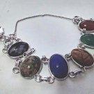 Vintage Carved Stone 6 Scarab Bracelet SIGNED AMCO Bracelet 12k Gold Filled