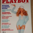 Playboy Magazine - April 1993 Cindy Crawford, Nicole Wood, college girls, Frank Zappa
