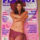 Playboy Magazine - October 1998 Cindy Crawford, Geraldo Rivera, Gym babes, Tori Spelling, football