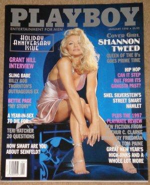 Playboy Magazine - January 1998 Shannon Tweed, Grant Hill, Bettie (Betty) page, Teri Hatcher