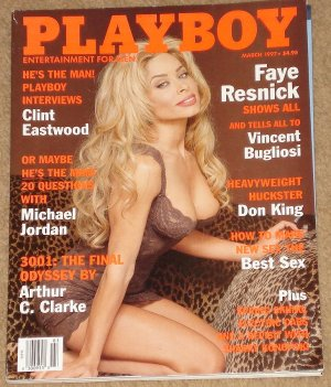 Playboy Magazine - March 1997 Faye Resnick, Clint Eastwood, Michael Jordan, Don King, EV1